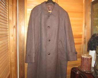 NWOT Louisoder  For Kynoch Heavy Tweed Wool Overcoat