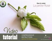 Video tutorial how to make SILK rose in Somebana techniqoe using japanese flower making tools
