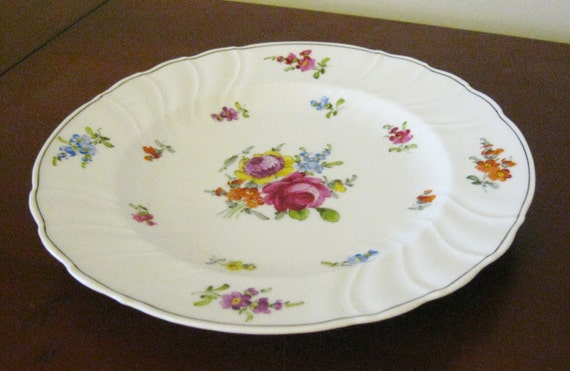 French Wedding Gifts: French Porcelain Wedding Gift Plate Emile By