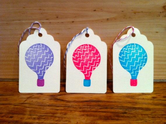 Balloon Tag: Hot Air Balloon Gift Tag