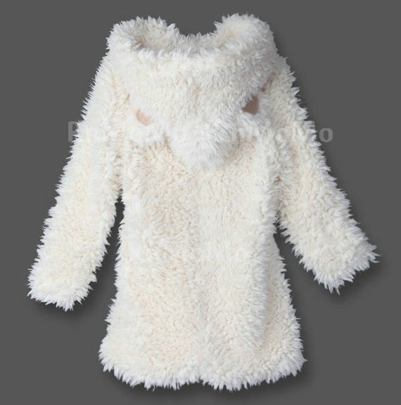 winter teddy princess bear ears soft fur fun beige hoodie coat. Black Bedroom Furniture Sets. Home Design Ideas