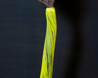 Blown Glass Yellow Bud Vase
