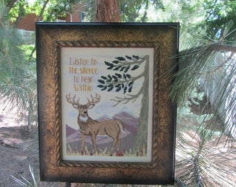 Listen to the Silence Cross Stitch Pattern from Designs by Lisa
