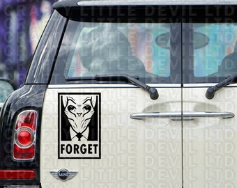 The Silence - Forget (Black Decal)