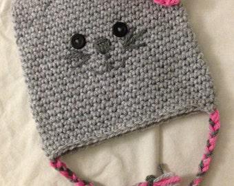 INSTANT DOWNLOAD Breylinn's Cute Kitty Hat Crochet Pattern