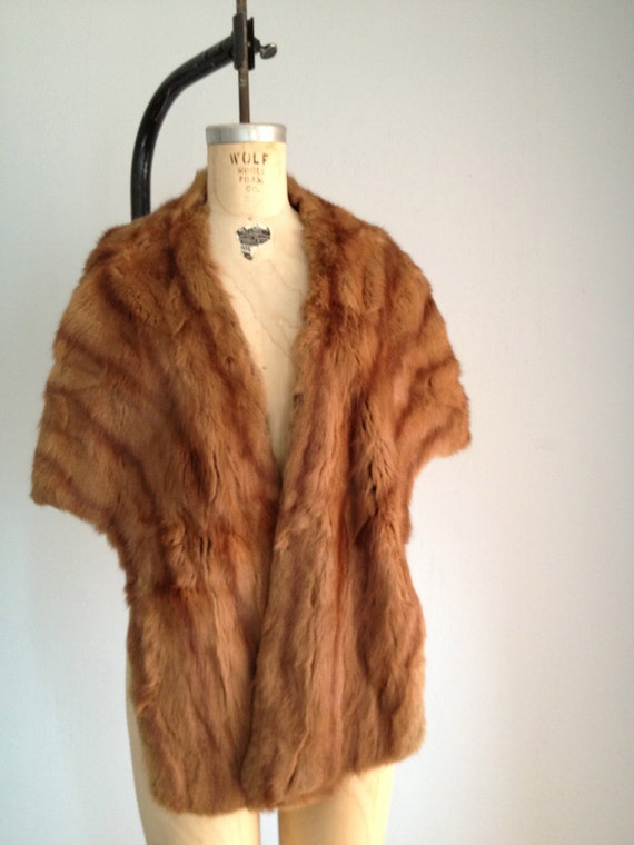 Vintage 1950s mink fur stole wrap genuine by farewellmarie on etsy - Stoel fur ...