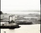 View of Castle Stalker on Loch Linnhe