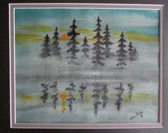 Oil or Water color of Morning Reflections - Original Artwork
