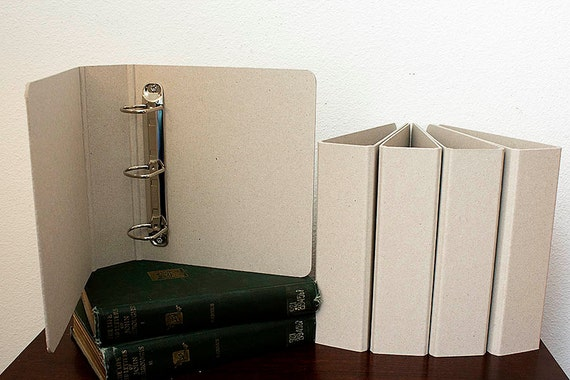 TWO Chipboard Field Journal Binders