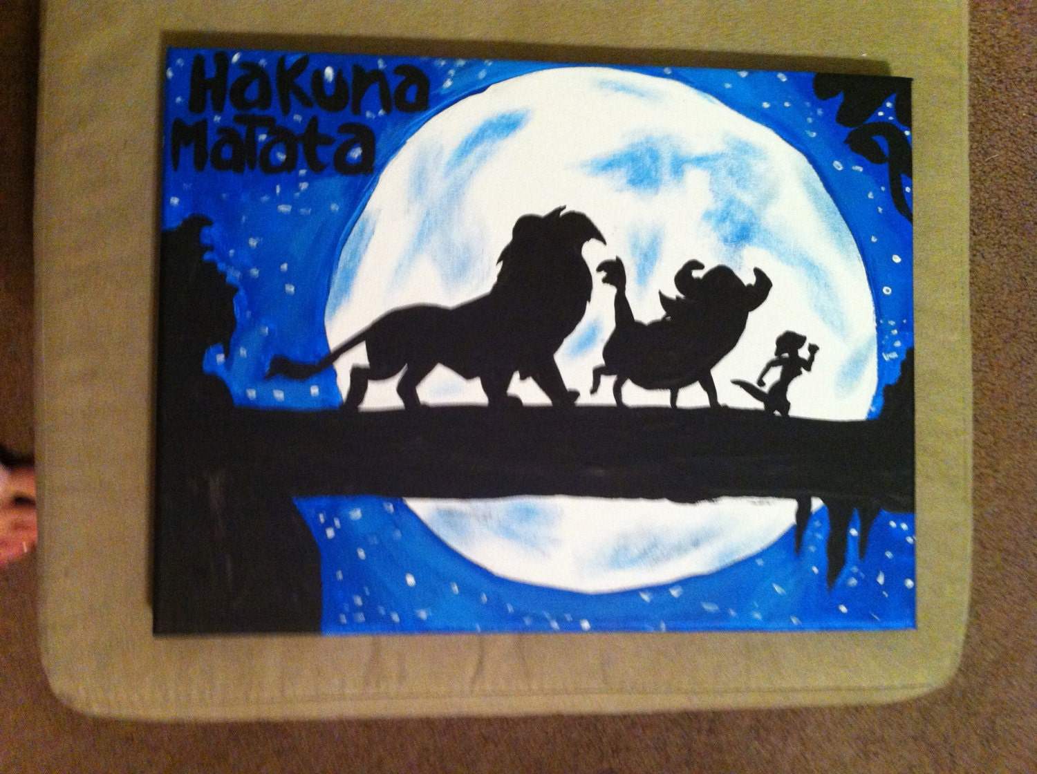 Disney's The Lion King Inspired 9x12 Canvas Painting