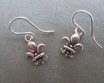 Sterling Silver Fluer De Lis Earrings #ER88SS *SALE*