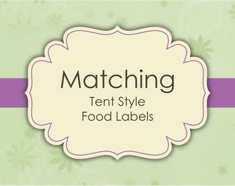 Matching Tent Style Card for Food Labels - Digital File
