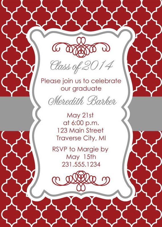 Top Quadrifoglio laurea invito Party annuncio laurea College e WD02