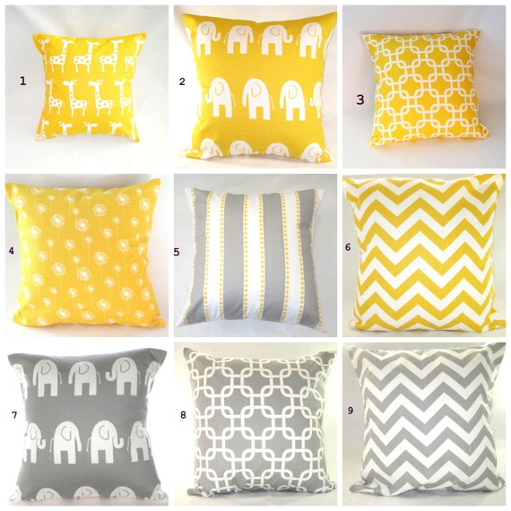 Etsy Yellow Throw Pillow : Pillow Cover Pillow Decorative Pillow Decorative by PillowsByJanet