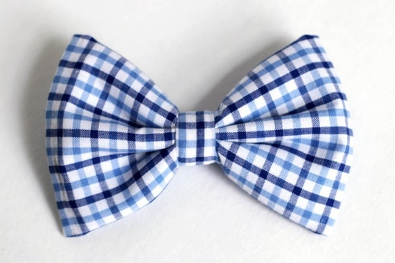 Items Similar To Boys Bow Tie Navy And Light Blue Plaid
