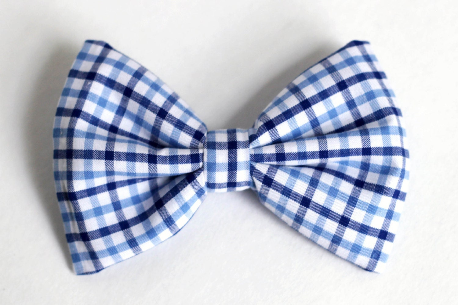 boys bow tie navy and light blue plaid newborn by