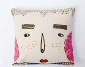 Little freckle boy, Family decorative pillow