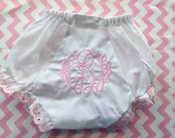 Monogrammed Bloomers - Monogrammed Diaper Cover