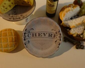 Vintage French Le Fromage du Monde Dollhouse Plate