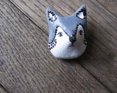Wolf brooch -grey wolf- natural history  woodland- nature- wild life- jewelry brooch