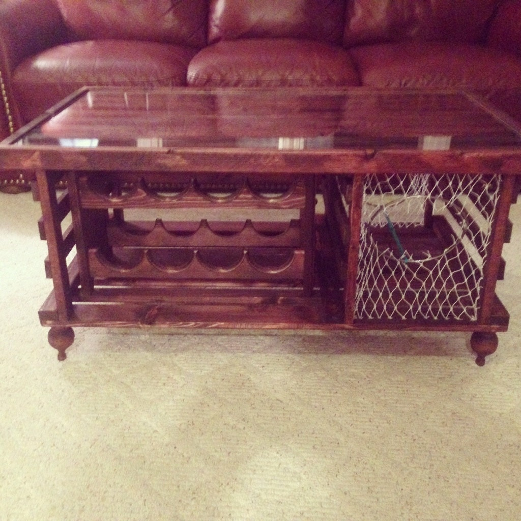 Lobster Trap Coffee Table Wine Rack Made In Usa