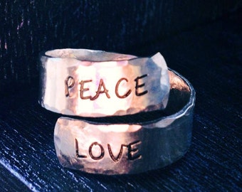 Spiral Ring, personalized ring, engraved ring, peace ring, gypsy ring, yoga ring, hippie ring, earth  SPRALH01