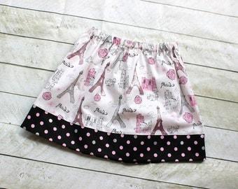 eiffel tower skirt paris skirt eiffel tower outfit pink siler black skirt fabric fall skirt girl toddler baby back to school fall summer