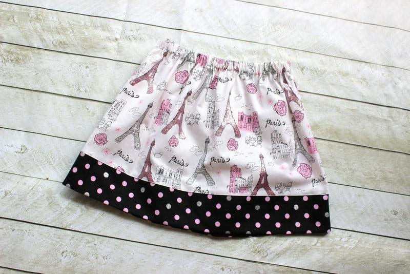 Eiffel tower skirt paris outfit pink siler