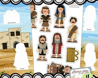 Scripture Pals: Nephi and the Brass Plates File Folder Game