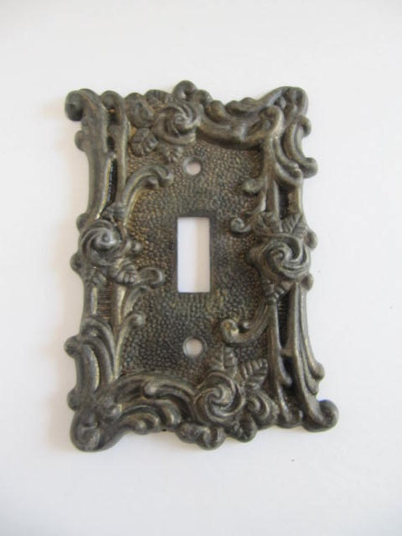 Vintage Iron Switch Plate Lighting Plate Cast Iron Switch