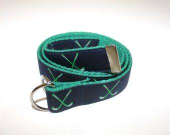 Adjustable Hockey Belts for Girls and Boys, D-Ring with Velcro Option