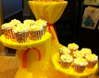 Instant Download popcorn cupcake wrap