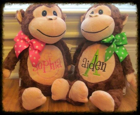 Personalized monkey gifts 28 images personalized monkey jungle personalized monkey gifts personalized monkey stuffed monogrammed plush by negle Images