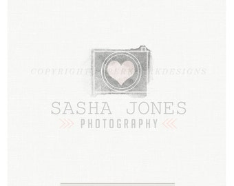 Photography Logo Design - Custom Pre-made watercolor logo -TL005