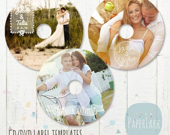 CD/dvd label photoshop templates - EB011 - INSTANT Download