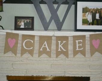 Food or Cake Burlap Banner
