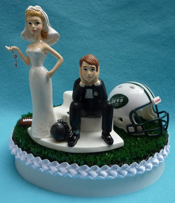 wedding cake toppers in new york wedding cake topper new york jets ny football themed and 26513