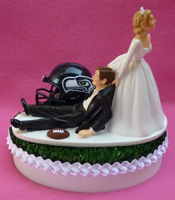 wedding cake seattle wedding cake topper seattle seahawks football themed sports 24246