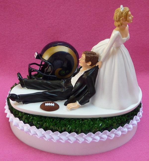 Wedding Cake Topper Los Angeles Rams L.A. Football Themed