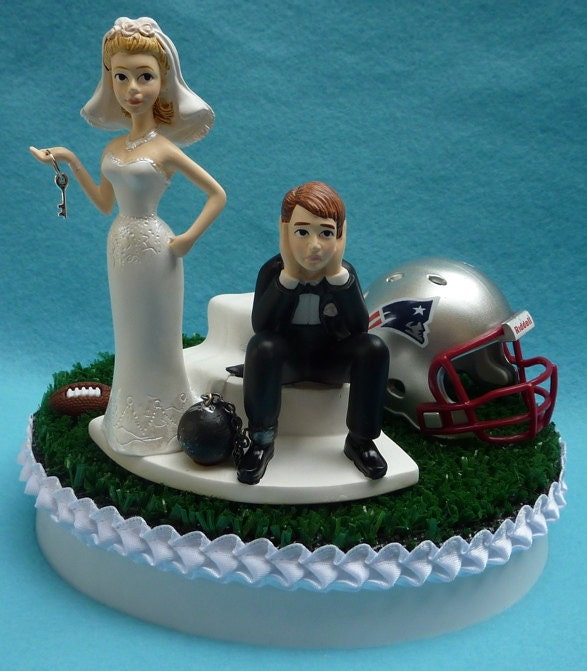 wedding cakes new england wedding cake topper new patriots ne pats football 25077