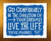 Go Confidently In The Direction Of Your Dreams (Color) 8 x 10 Illustration Print