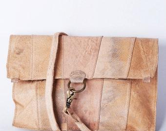 Bundala Tuna Leather Clutch Bag