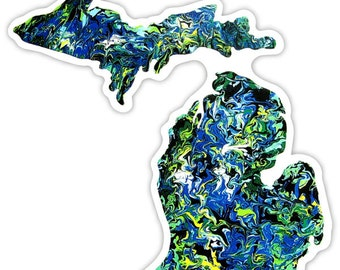 The Michigan Art Sticker