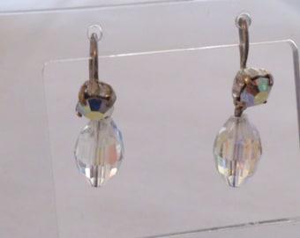 vintage crystal and rhinestone drop earrings