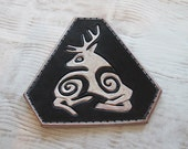 Pictish Stag Leather Patch