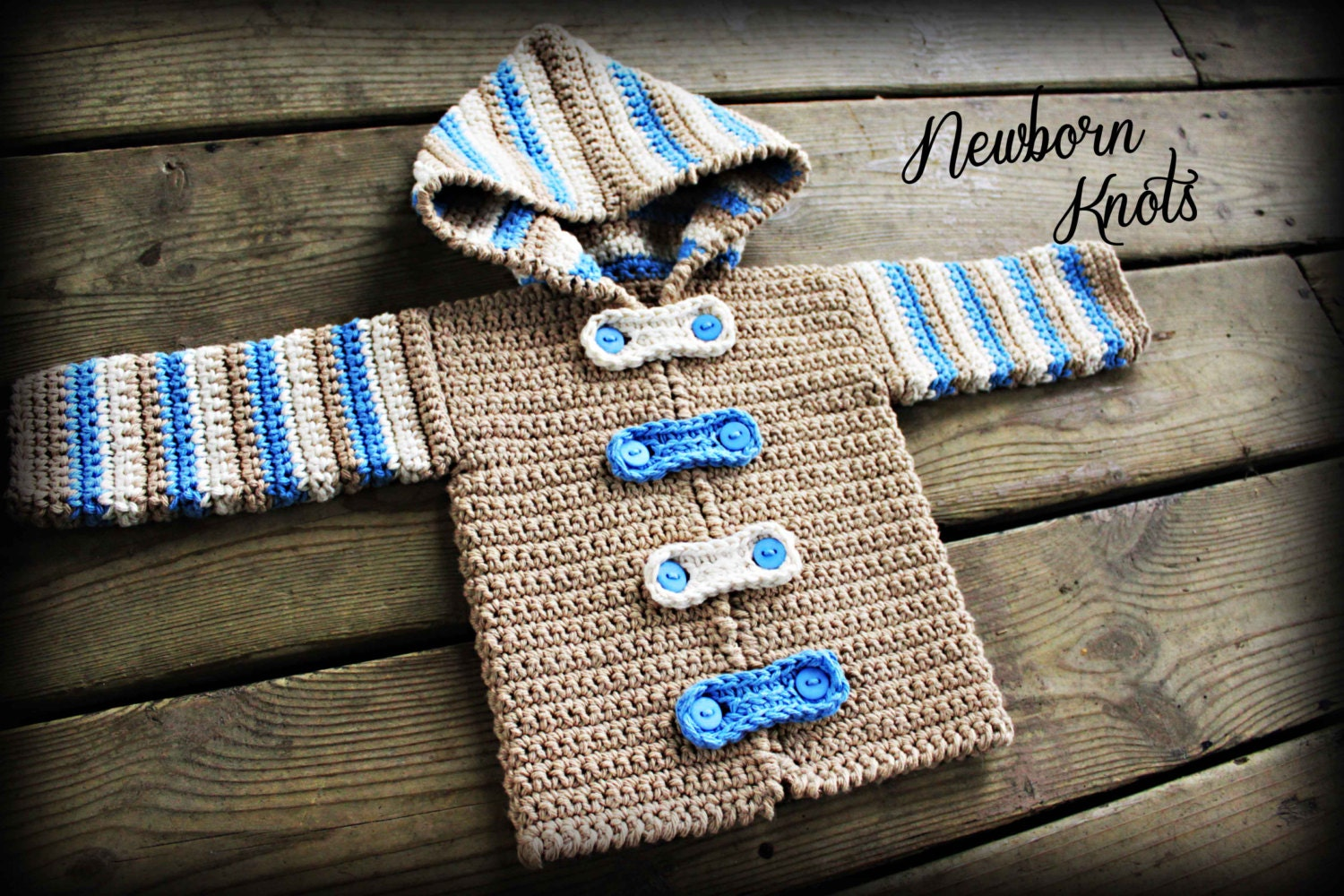 Crochet pattern for baby boy or girl striped hoodie zoom bankloansurffo Choice Image