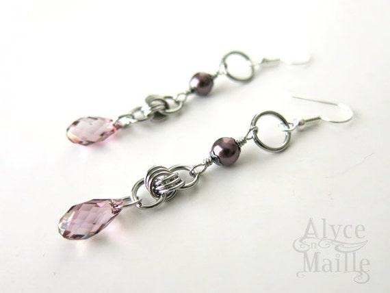 Alyce n Maille Keepsake Earrings As Seen on The Vampire Diaries