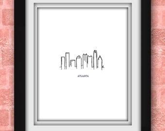 Atlanta Skyline Minimalist Print