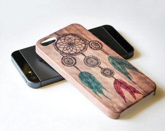 Dream Catcher - iPhone 6 case , wood iphone case , iphone 5s case , iphone 4s case , iPhone cover , Wood Case , Hard Plastic Case