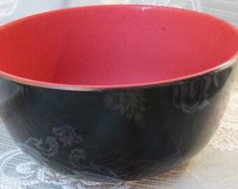 Black Lacquer Ware Bowl